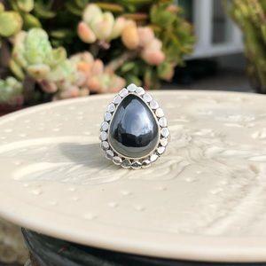 Hematite Sterling Silver Ring Sz 7.5